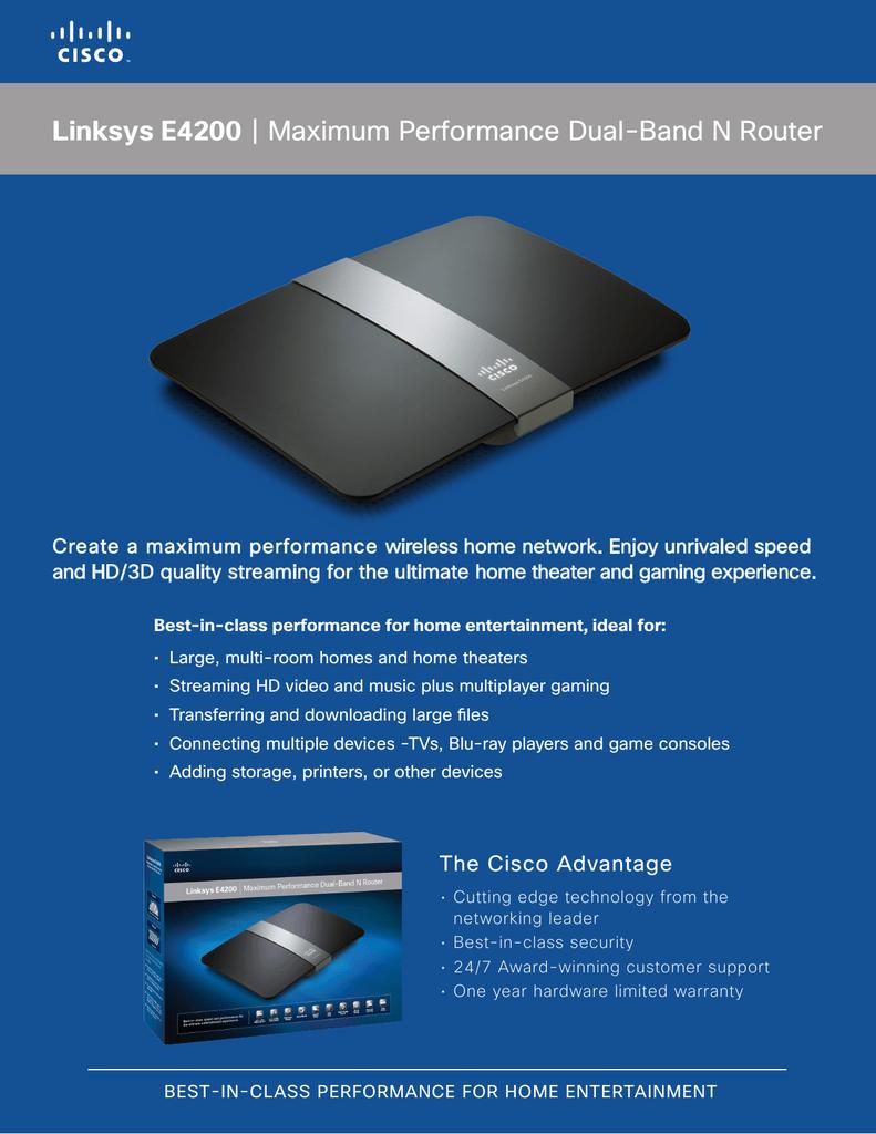 Linksys E4200 | Maximum Performance Dual | manualzz com