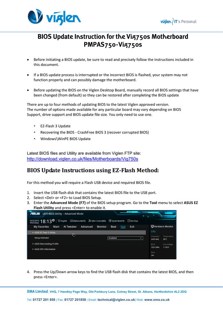 IMPORTANT_ BIOS Update_Windows 7 settings | manualzz com