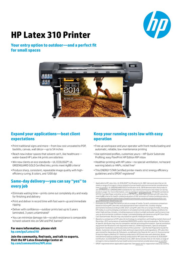 HP Latex 310 Printer - Product documentation   manualzz com