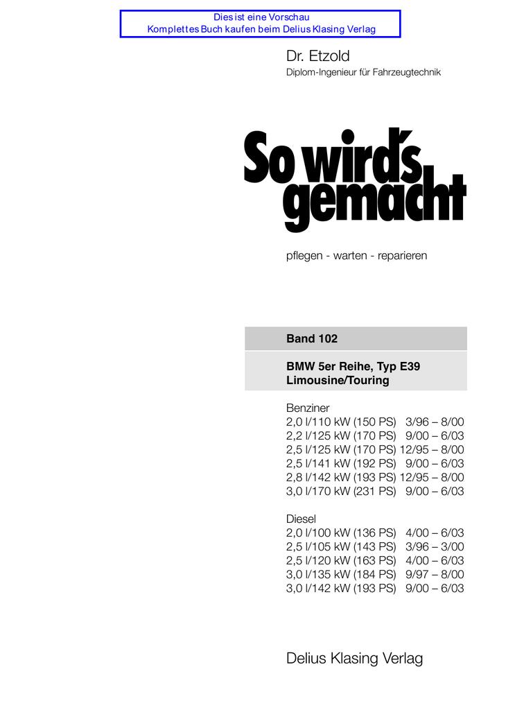 Thermostat 85°C Gehäuse BMW 5er E39 520d 520i 523i 525i 528i 530i Dichtung