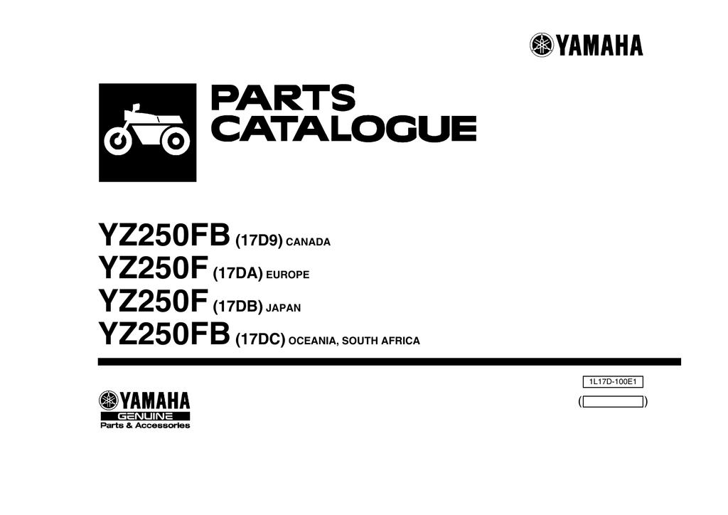 Yamaha YZ450 YZ250 Bearing 93306-90510