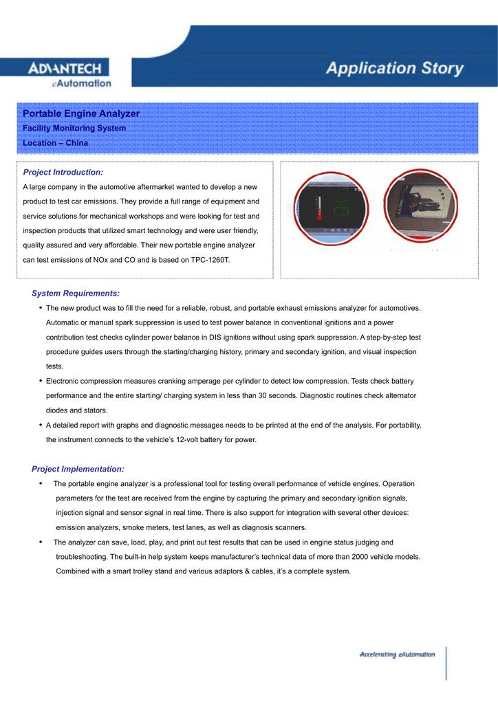 Portable Engine Analyzer | manualzz com