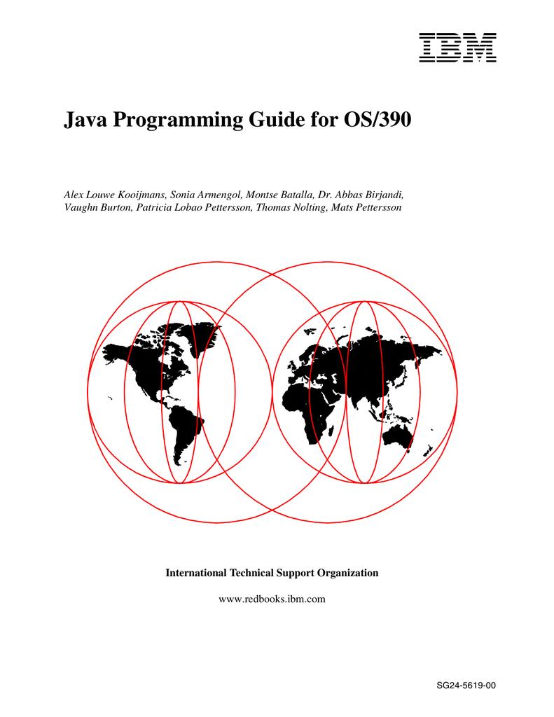 Java Programming Guide for OS/390 | manualzz com