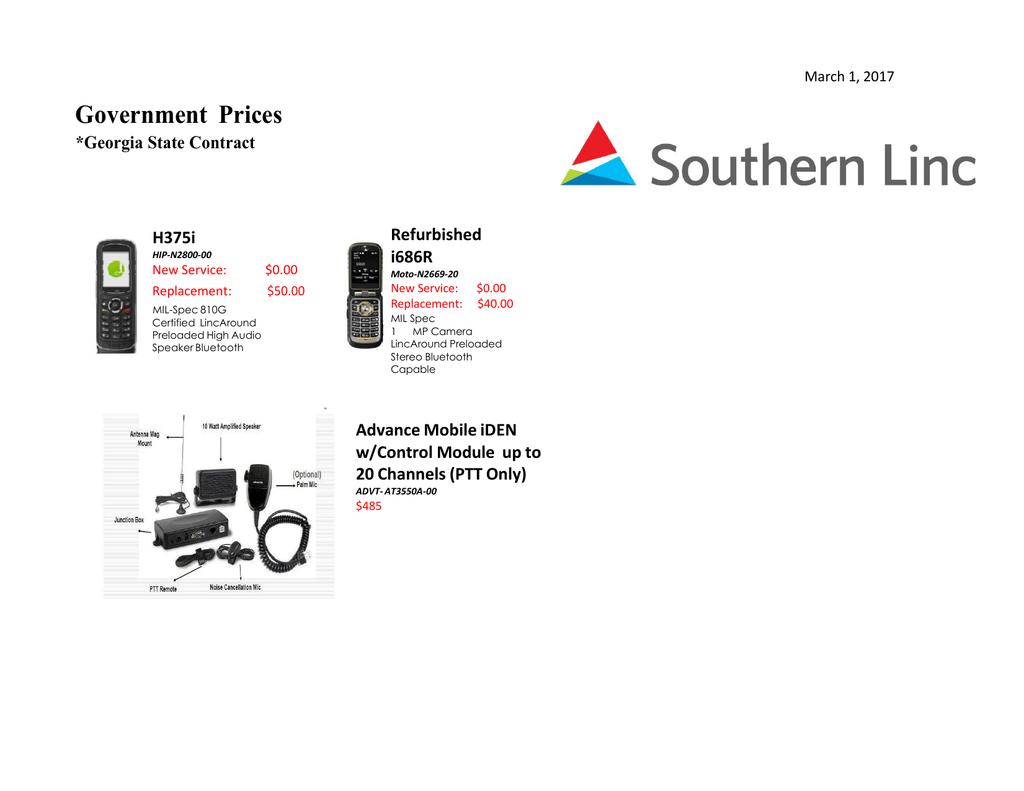 PRICE CATALOG - Southern Linc | manualzz com