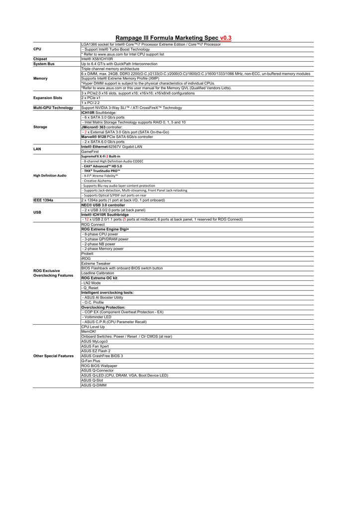 Rampage III Formula_MKT_v0 3 (Product page) xlsx | manualzz com