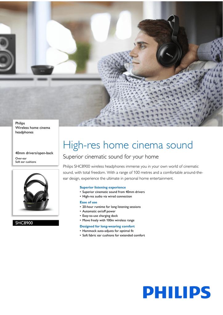88de2160024 SHC8900/12 Philips Wireless home cinema headphones | manualzz.com