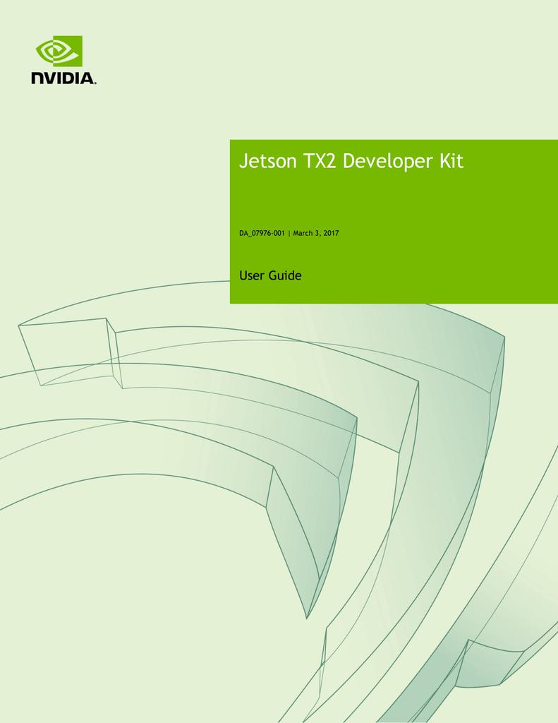 Jetson TX2 Developer Kit | manualzz com
