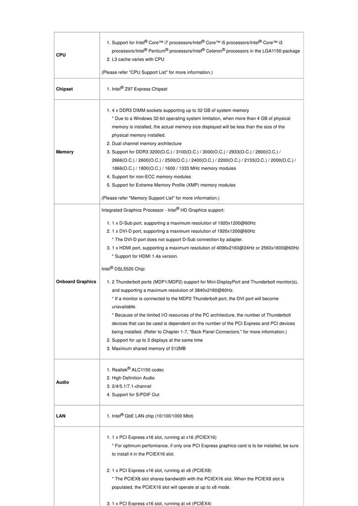 GIGABYTE - Motherboard - Socket 1150 - GA-Z97X-UD7 | manualzz com