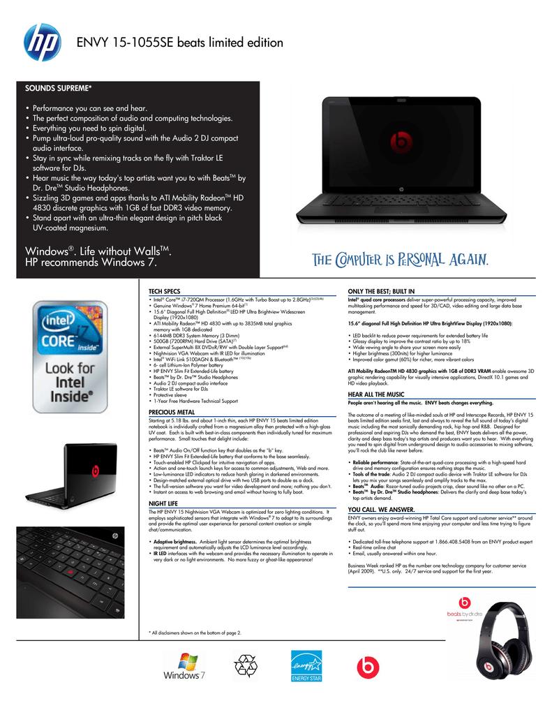 HP ENVY 14-1110NR NOTEBOOK AMD HD VGA DRIVERS FOR WINDOWS 10