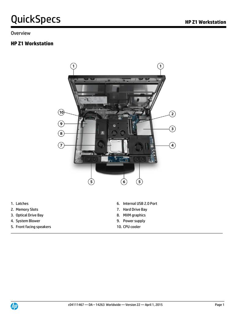 HP Z1 Workstation | manualzz com