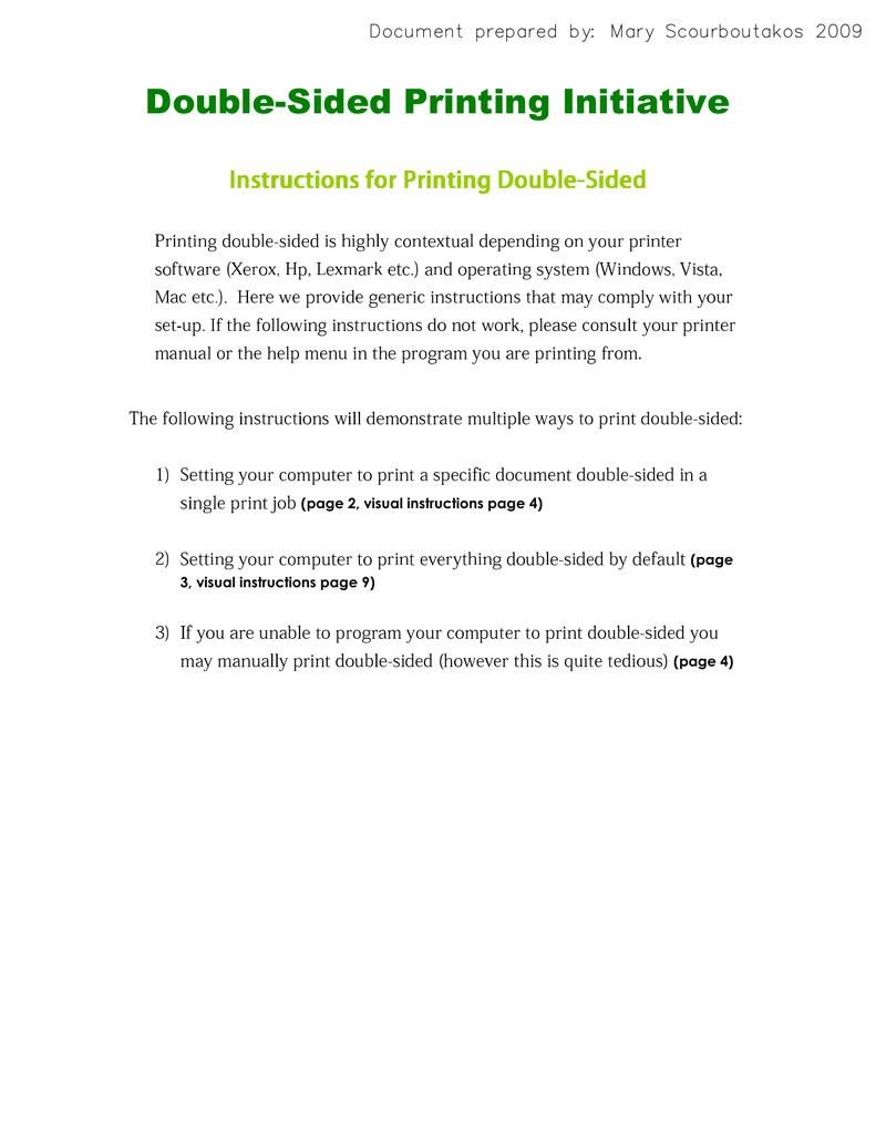 Manual duplex printing on mac download