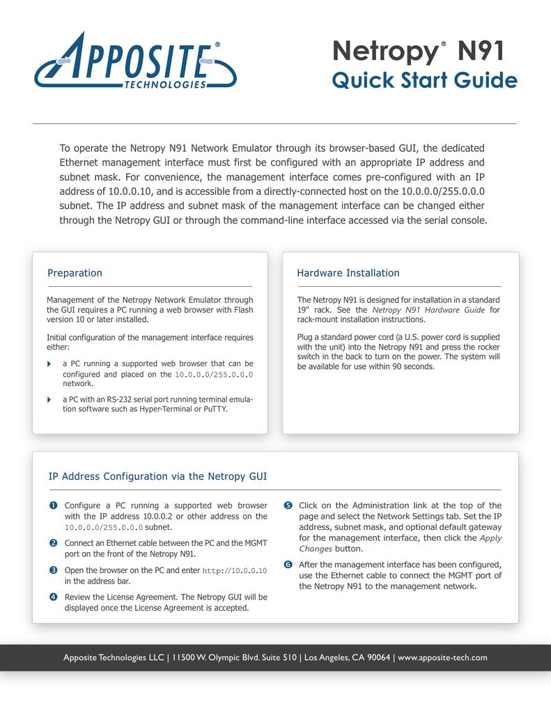 Netropy N91 Quick Start Guide | manualzz com