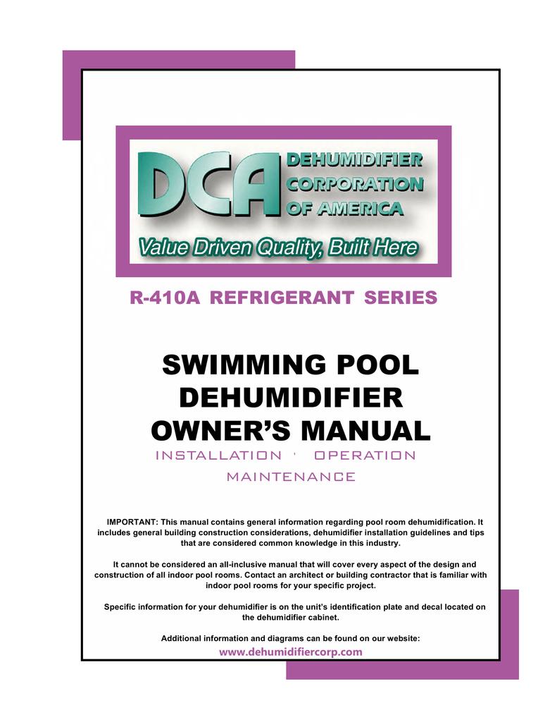 swimming pool dehumidifier owners manual manualzz com rh manualzz com