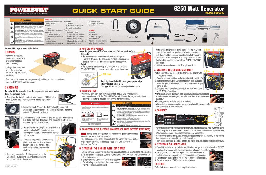 6250 Watt Generator | manualzz com