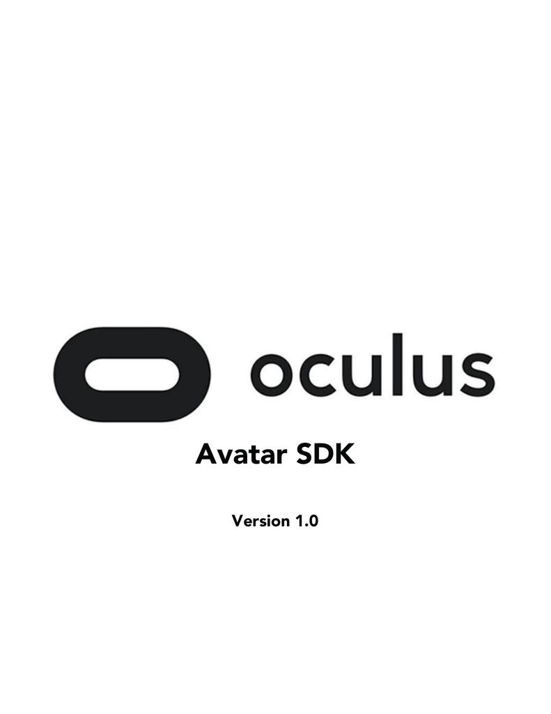 Avatar SDK | manualzz com