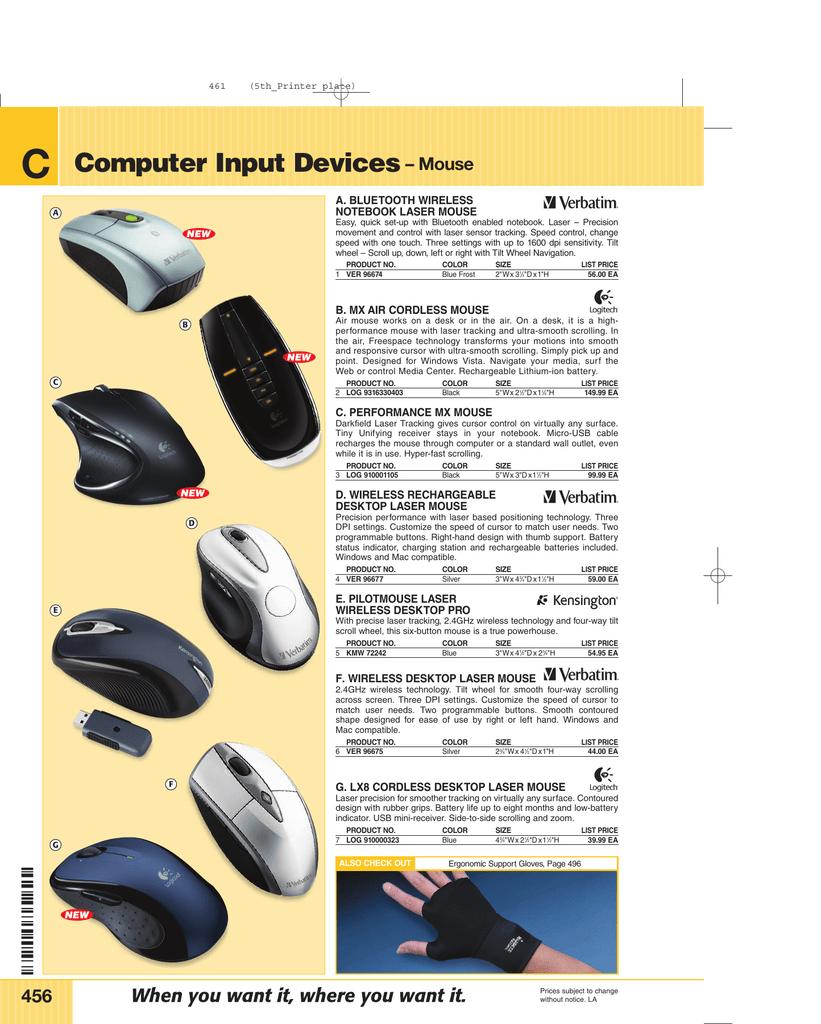 Computer Input Devices– Mouse | manualzz com