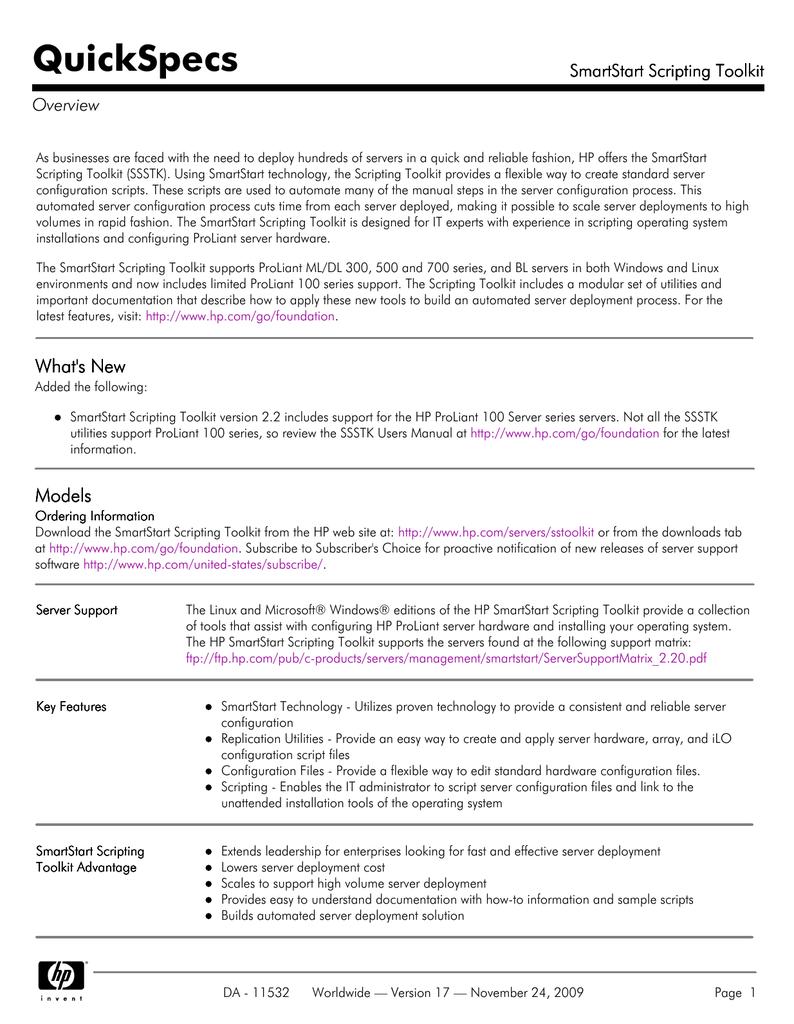 SmartStart Scripting Toolkit | manualzz com