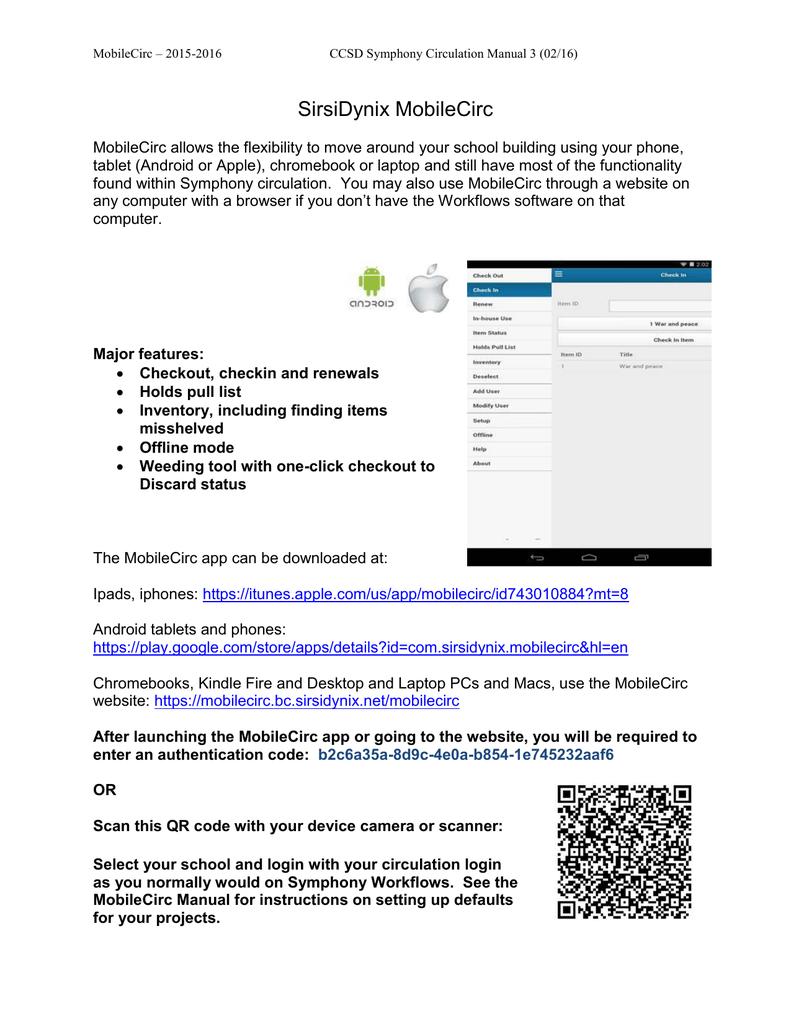MobileCirc Instructions - Cherry Creek School District