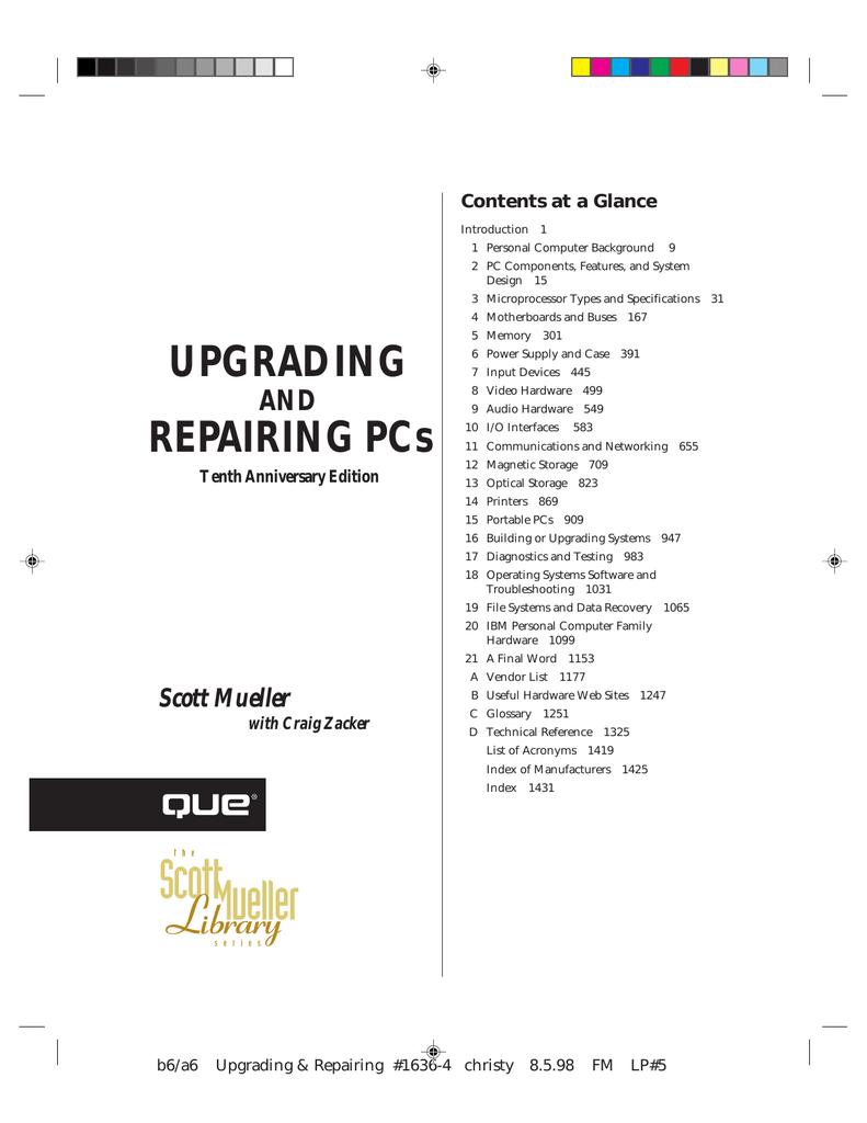 UPGRADING REPAIRING PCs   Manualzz