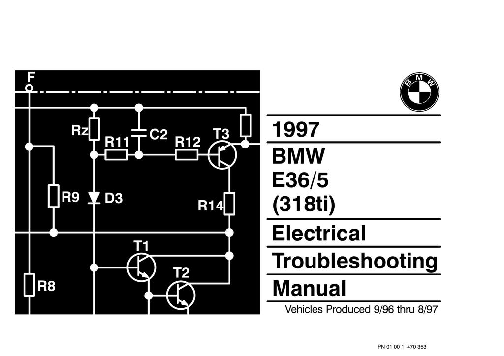 318ti fuse box 1997 bmw e36 5  318ti  electrical troubleshooting manual manualzz  1997 bmw e36 5  318ti  electrical