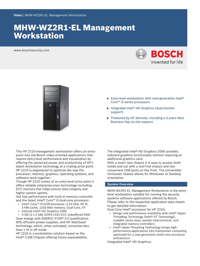 MHW-WZ2R1-EL Management Workstation | manualzz com