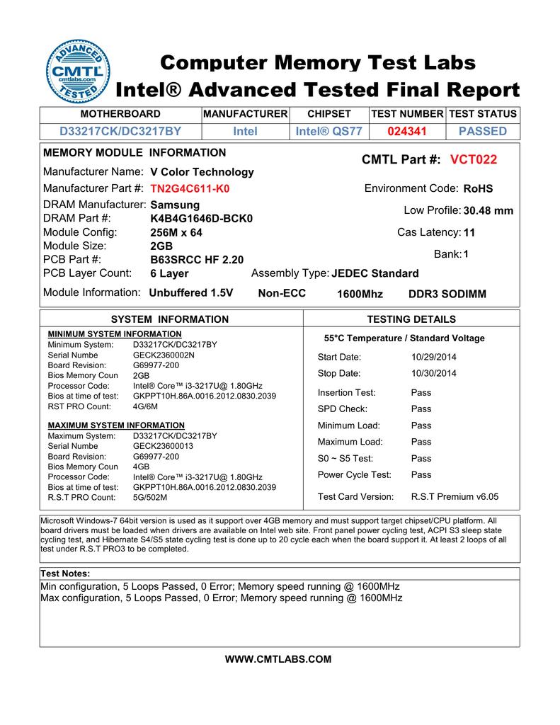 00 - Intel Desktops Report 6-24-13 | manualzz com