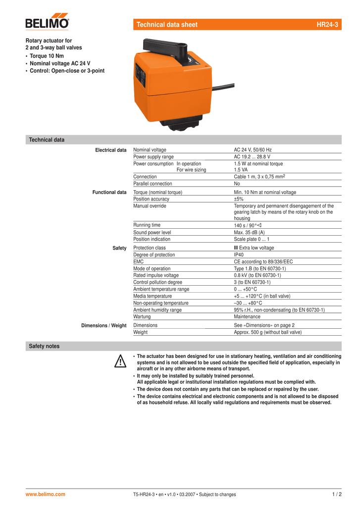 technical data sheet hr243  manualzz
