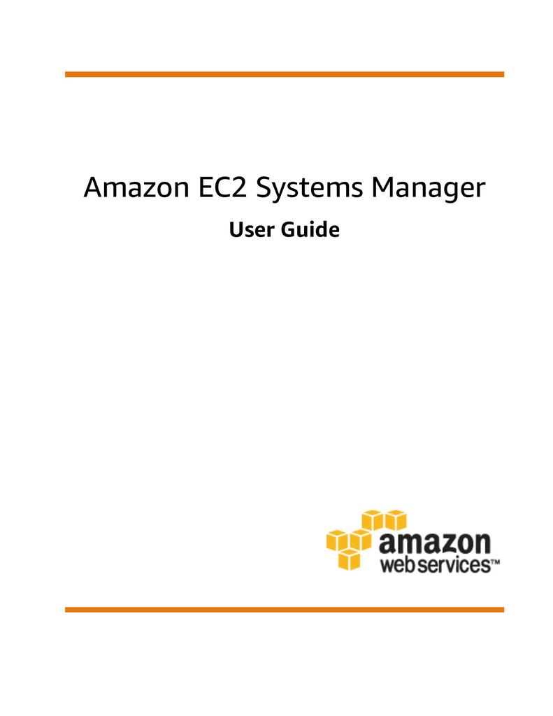 Amazon EC2 Systems Manager - User Guide | manualzz com