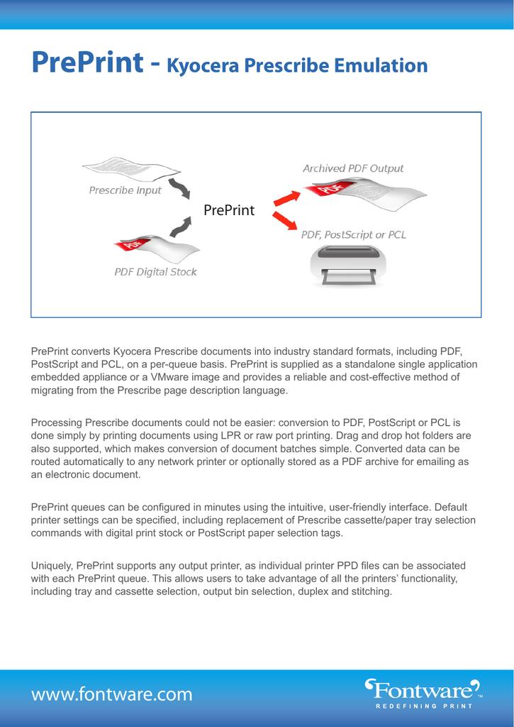 PrePrint - Kyocera Prescribe Emulation   manualzz com