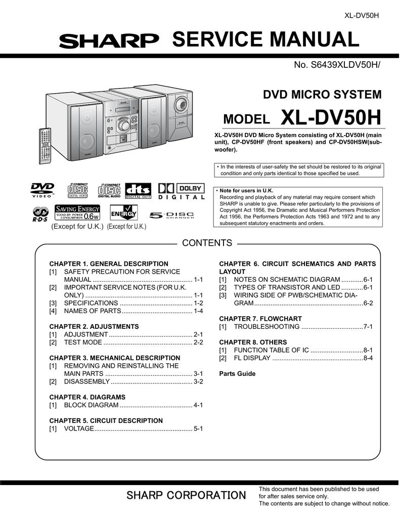 service manual xl-dv50h | manualzz com