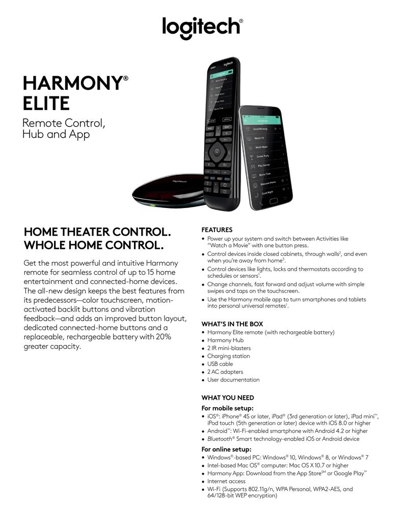 HARMONY® ELITE | manualzz com