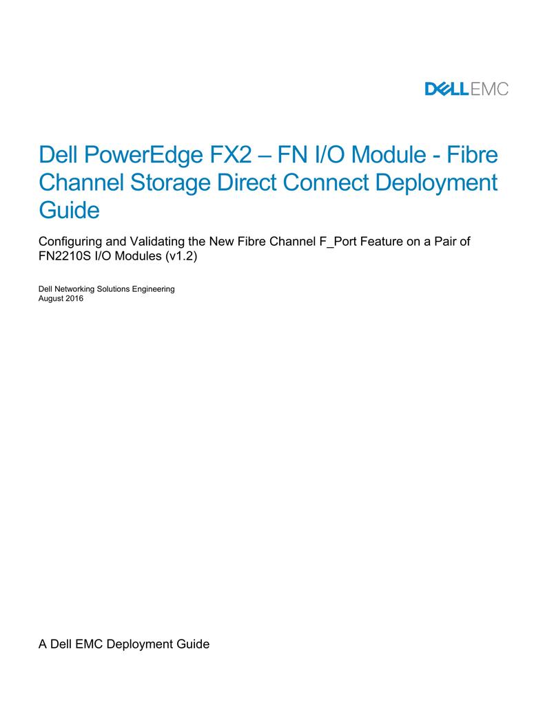 Dell PowerEdge FX2 – FN I/O Module | manualzz com