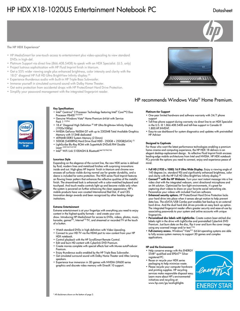 HP HDX X18-1020US PREMIUM NOTEBOOK INTEL WLAN DRIVER DOWNLOAD FREE