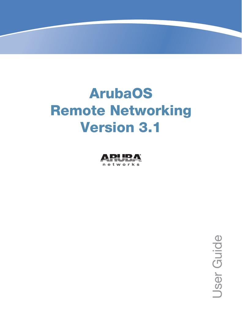 Aruba Remote AP Setup Guide | manualzz com