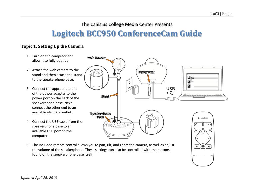 Logitech BCC950 ConferenceCam Guide | manualzz com
