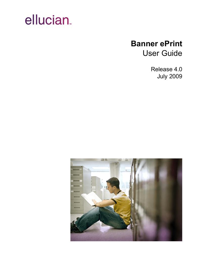 Banner ePrint / User Guide / 4 0   manualzz com