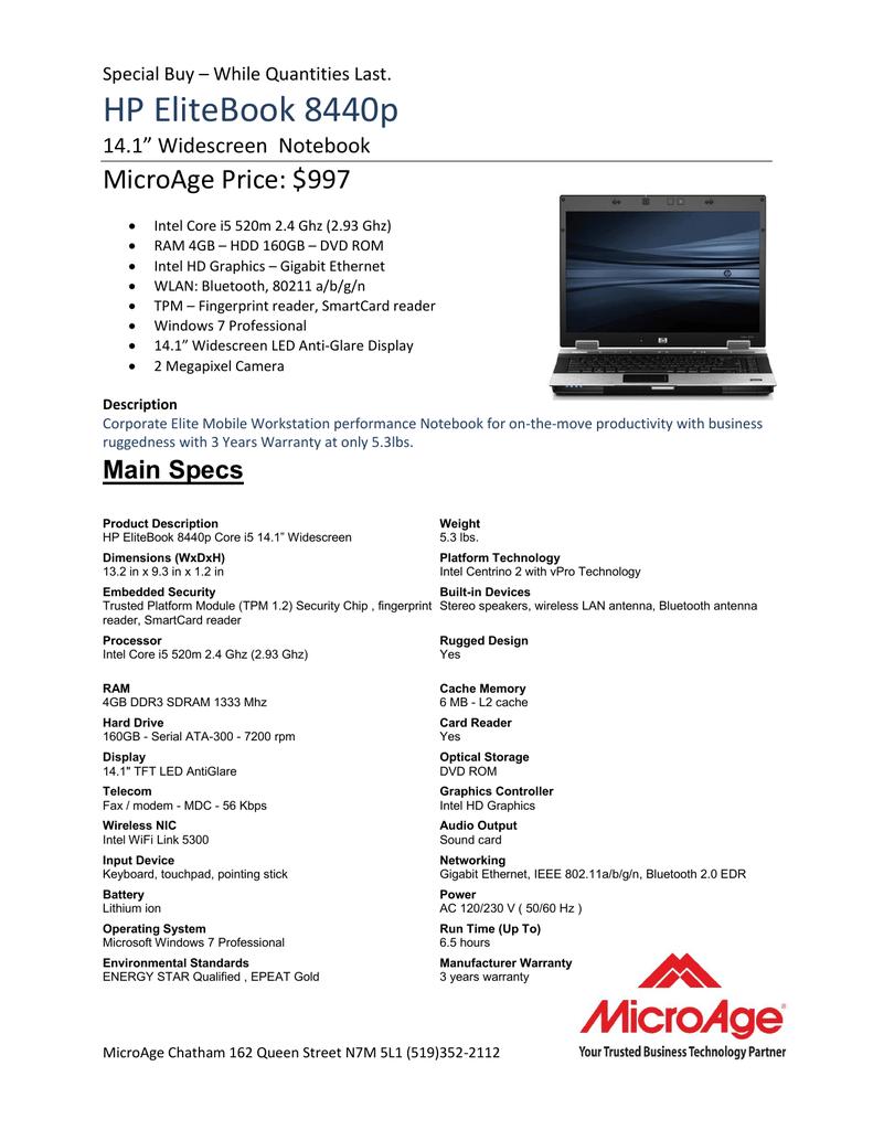 HP EliteBook 8440p   manualzz com