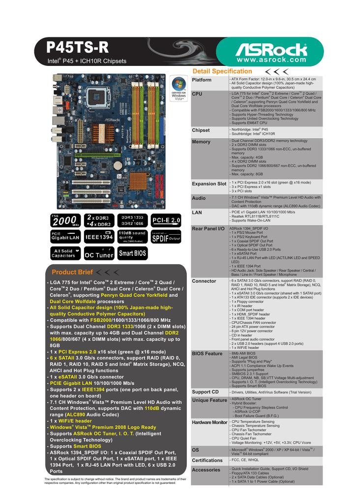ASROCK P45TS-R SATA RAID DRIVERS WINDOWS 7 (2019)