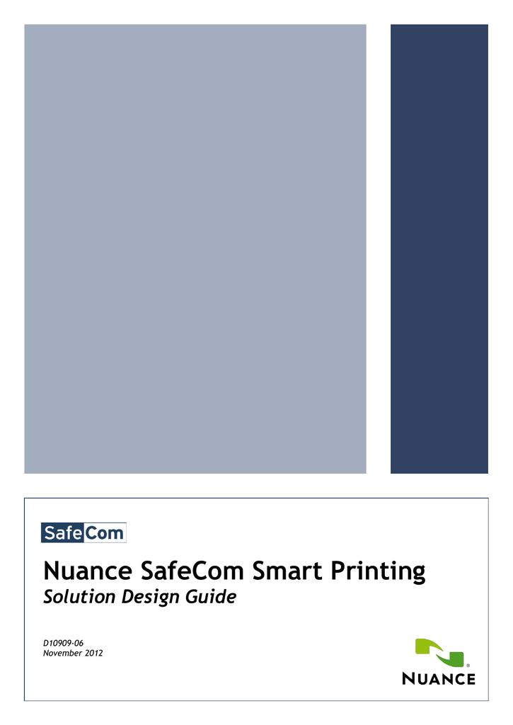 SafeCom Smart Printing Solution Design Manual | manualzz com