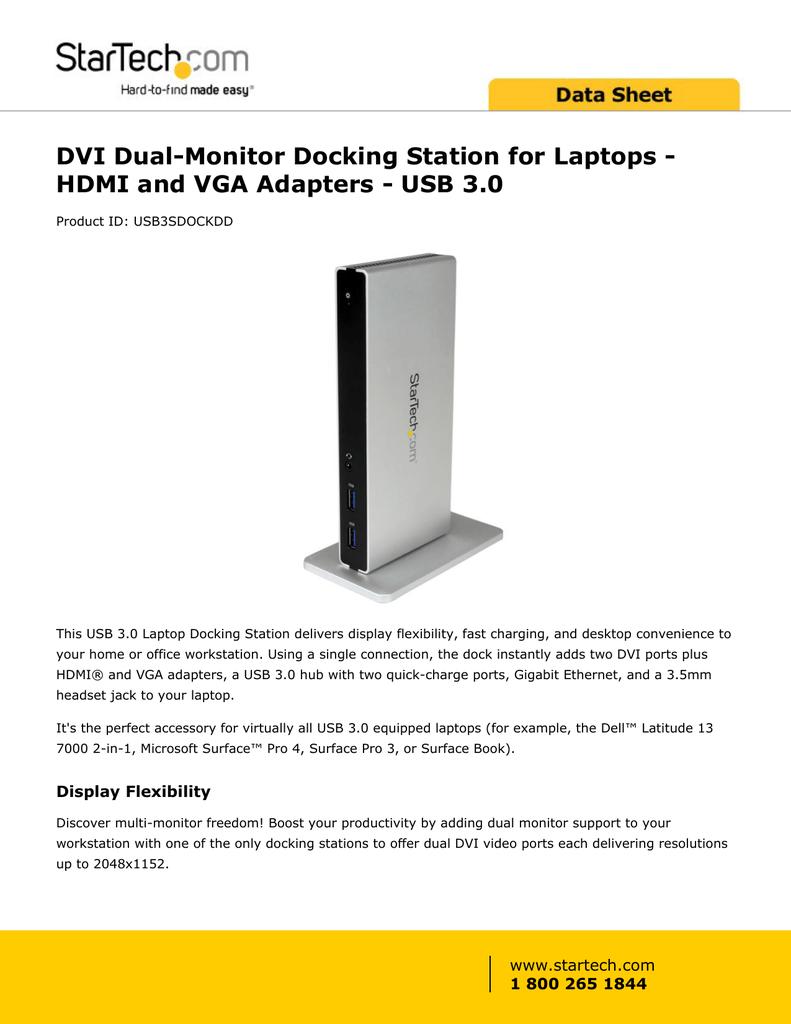 DVI Dual-Monitor Docking Station for Laptops | manualzz com