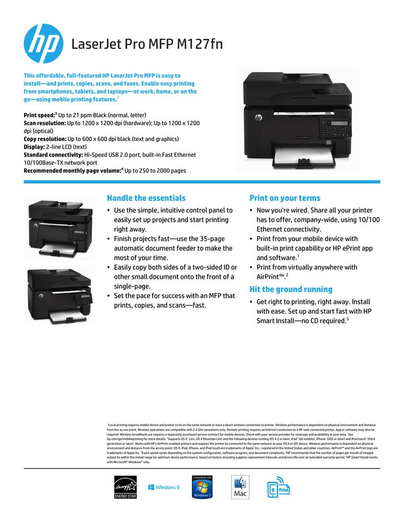 HP LaserJet Pro MFP M127fn | manualzz com