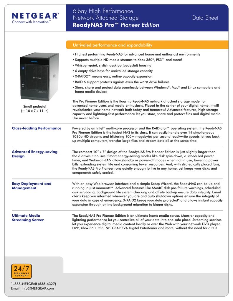 ReadyNAS Pro™ Pioneer Edition | manualzz com