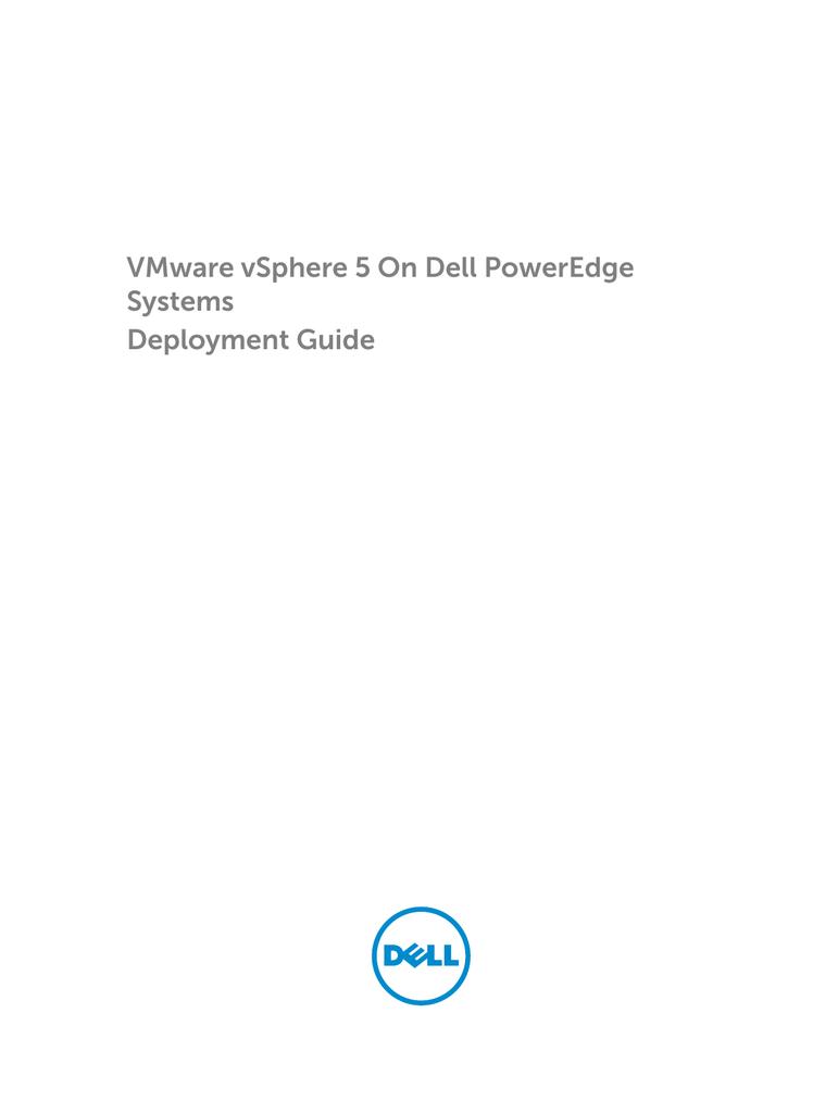 VMware vSphere 5 On Dell PowerEdge Systems Deployment Guide