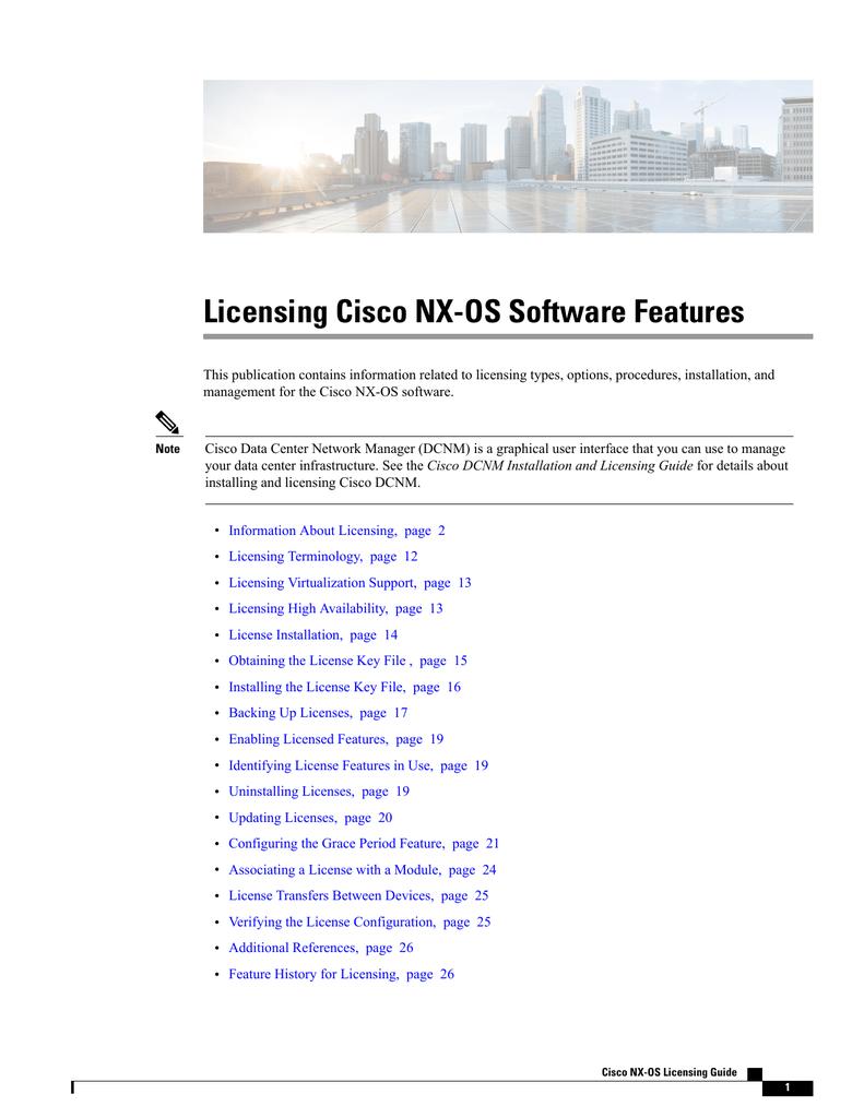 Licensing Cisco NX-OS Software Features | manualzz com