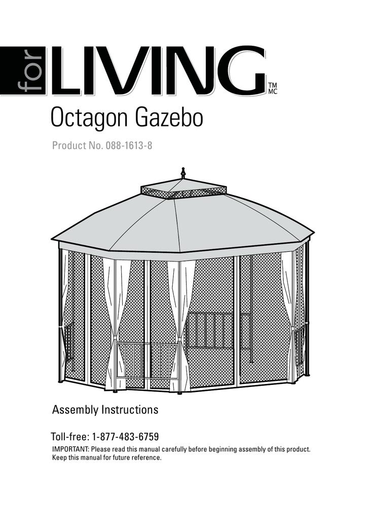 Octagon Gazebo Canadian Tire Manualzz