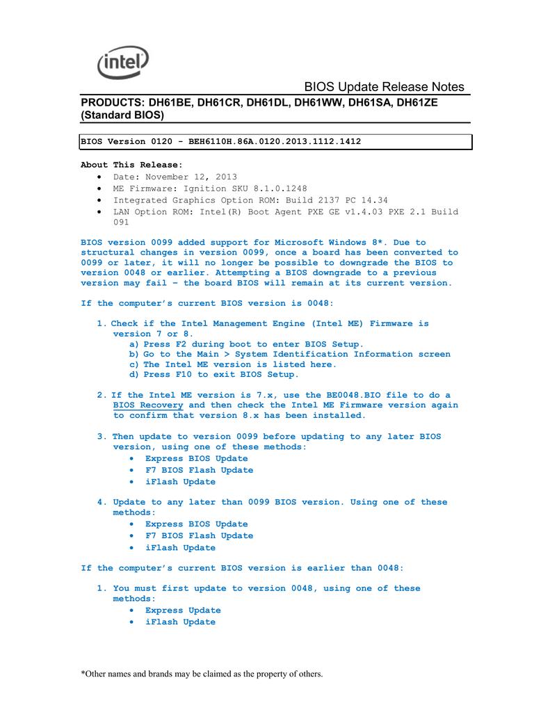 BIOS Update Release Notes | manualzz com