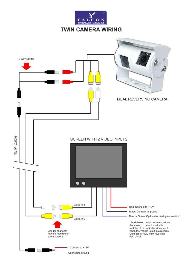 twin camera wiring - Falcon Technical Ltd | Manualzz | Twin Reversing Camera Wiring Diagram |  | manualzz