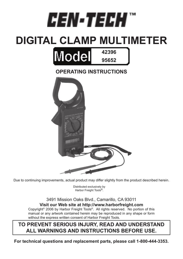 Digital ClaMP MUltiMEtER | manualzz com