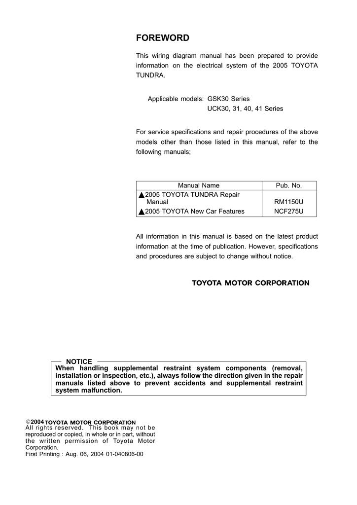 [SCHEMATICS_48YU]  foreword - Mugga . Net | Manualzz | Overdrive Wiring Diagram For Toyota Tundra |  | manualzz