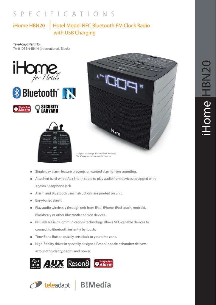 iHome HBN20 - B!Media UG | manualzz com